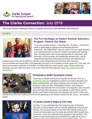 July 2016 Clarke eNewsletter