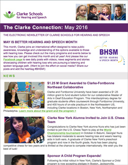 May 2016 Clarke eNewsletter