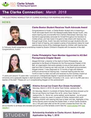 March 2018 Clarke eNewsletter